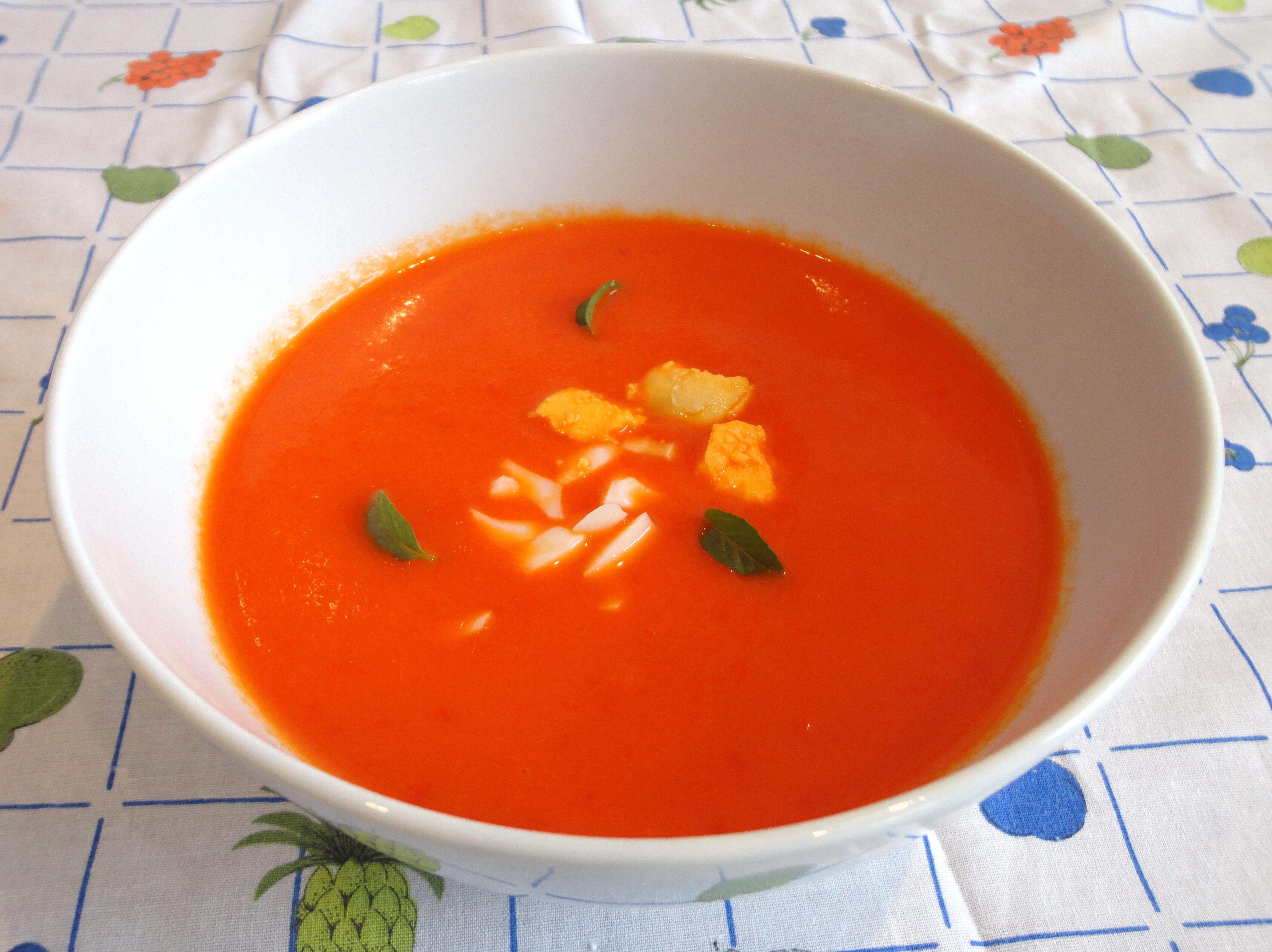 Sopa de Pimentos Vermelhos