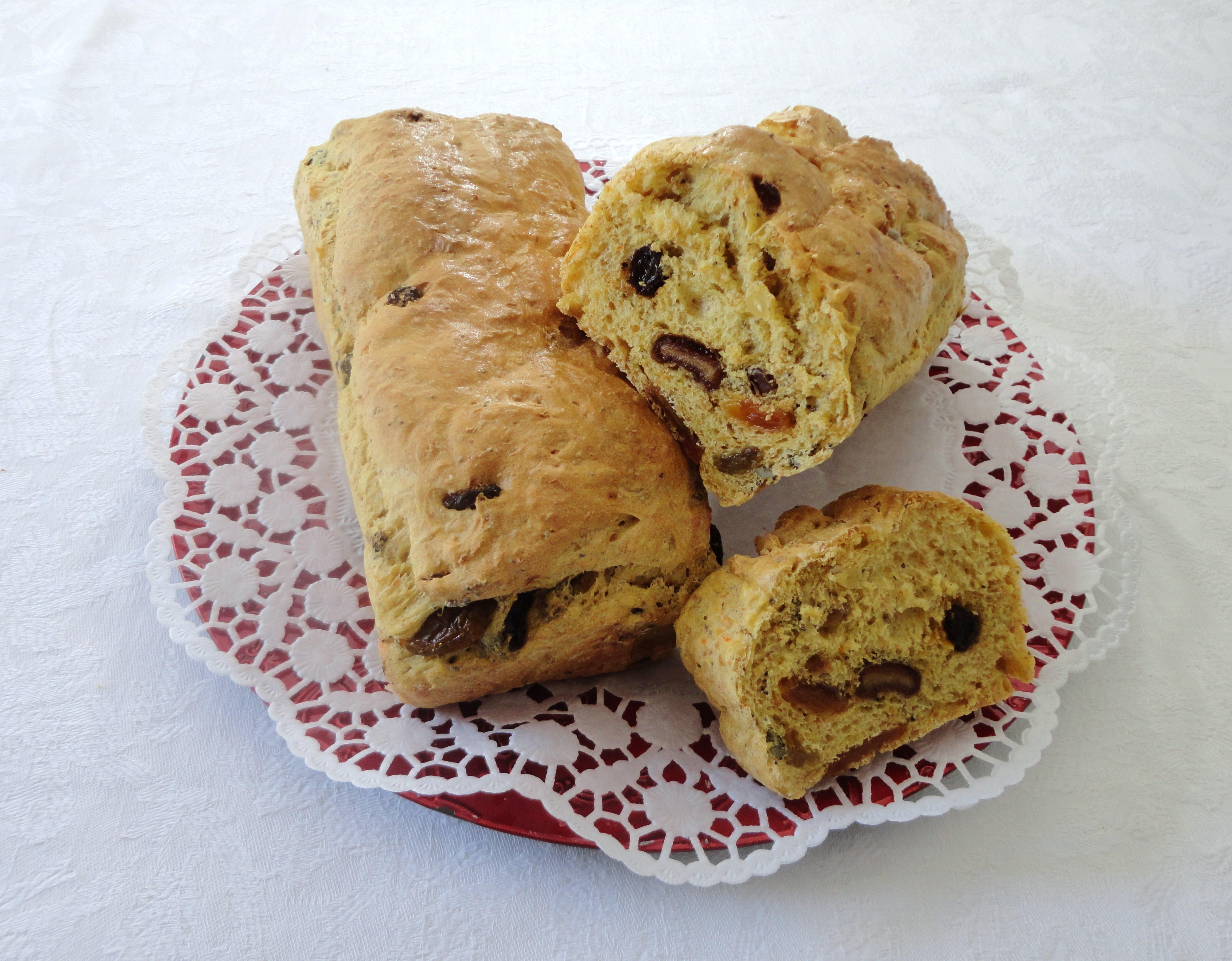 Pão com Sumo de Laranja, Sementes e Frutos Secos
