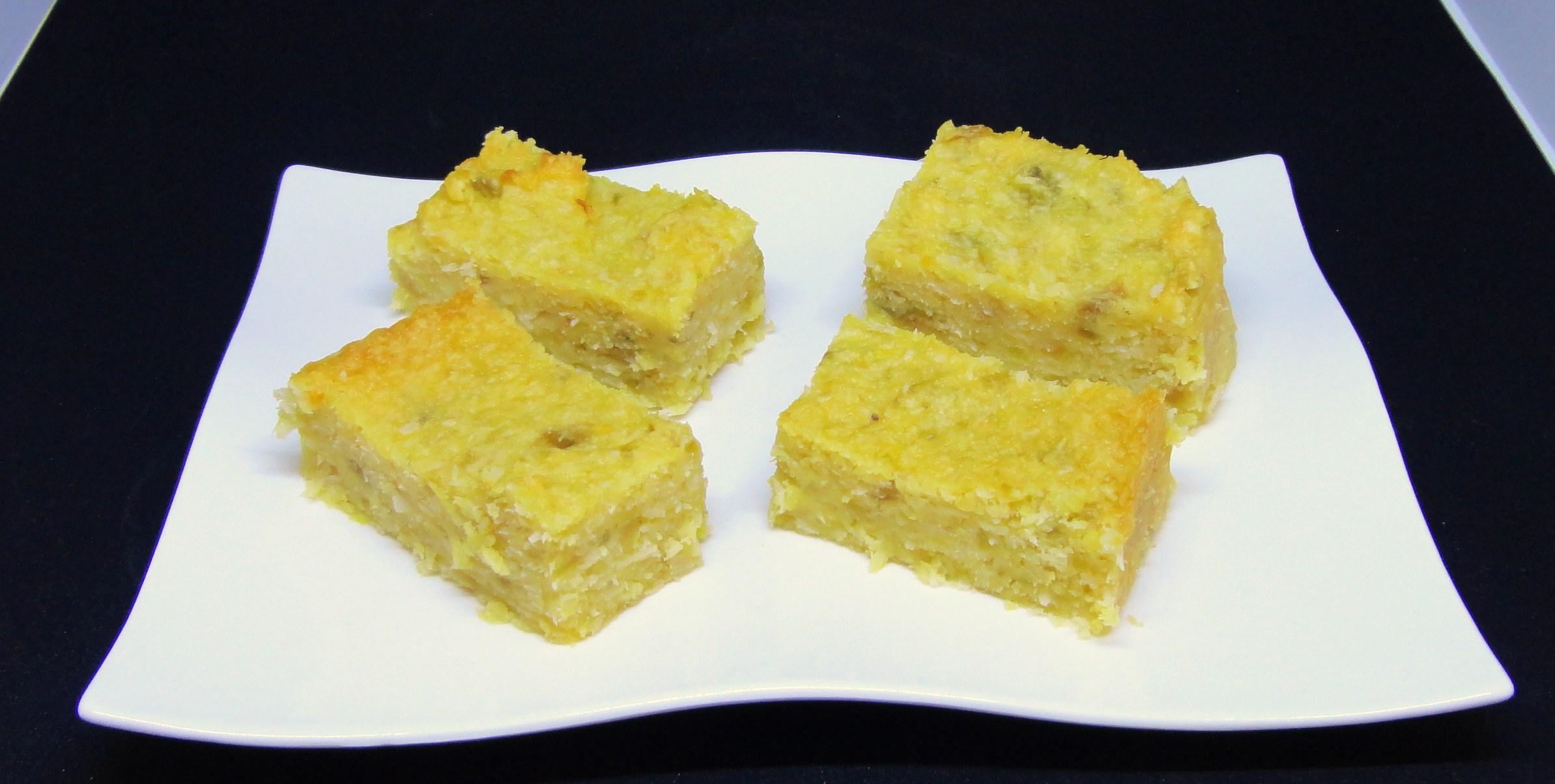 Quadrados de Batata-doce e Coco