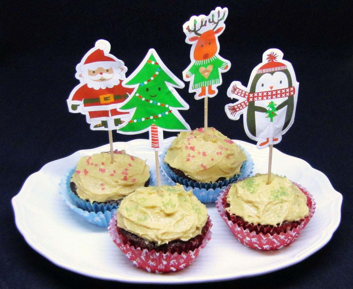 Cupcakes com Cobertura de Manteiga de Amendoim