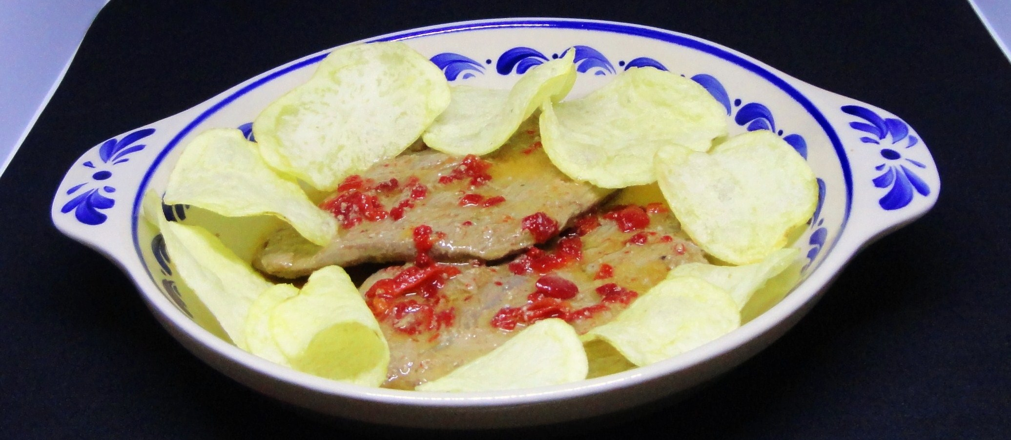 Bifes de Vitela com Molho de Laranja e Pimentos