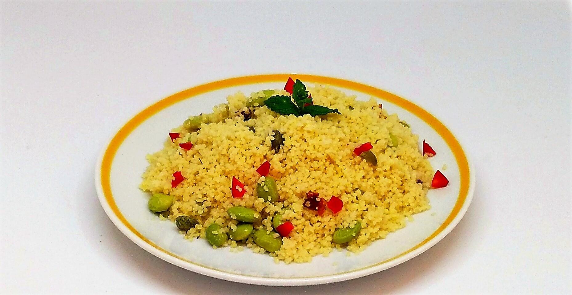 Salada de Couscous com Tofu