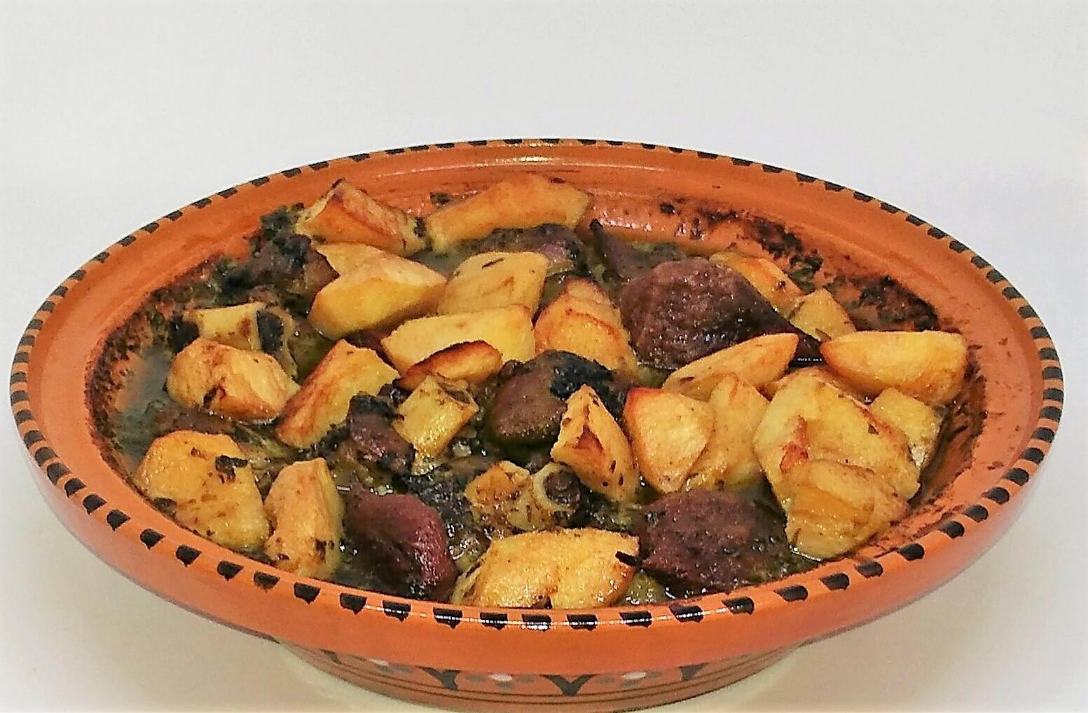 Tagine de Borrego, Marmelos e Peras Secas