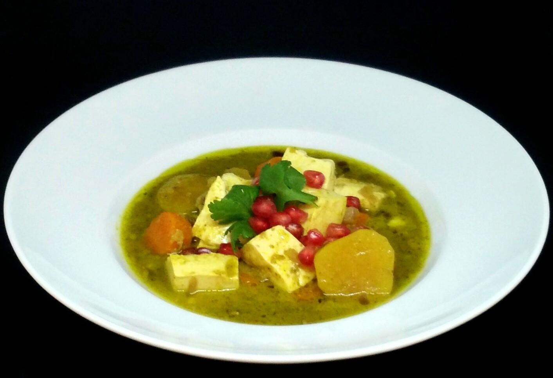 Caril Verde com Tofu