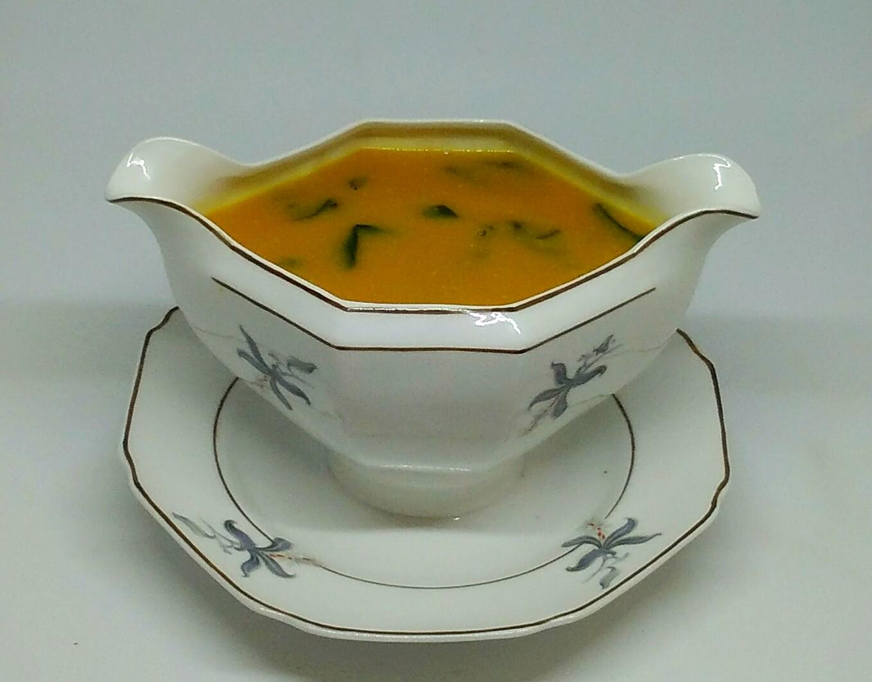 Sopa de Grão com Abóbora e Espinafres