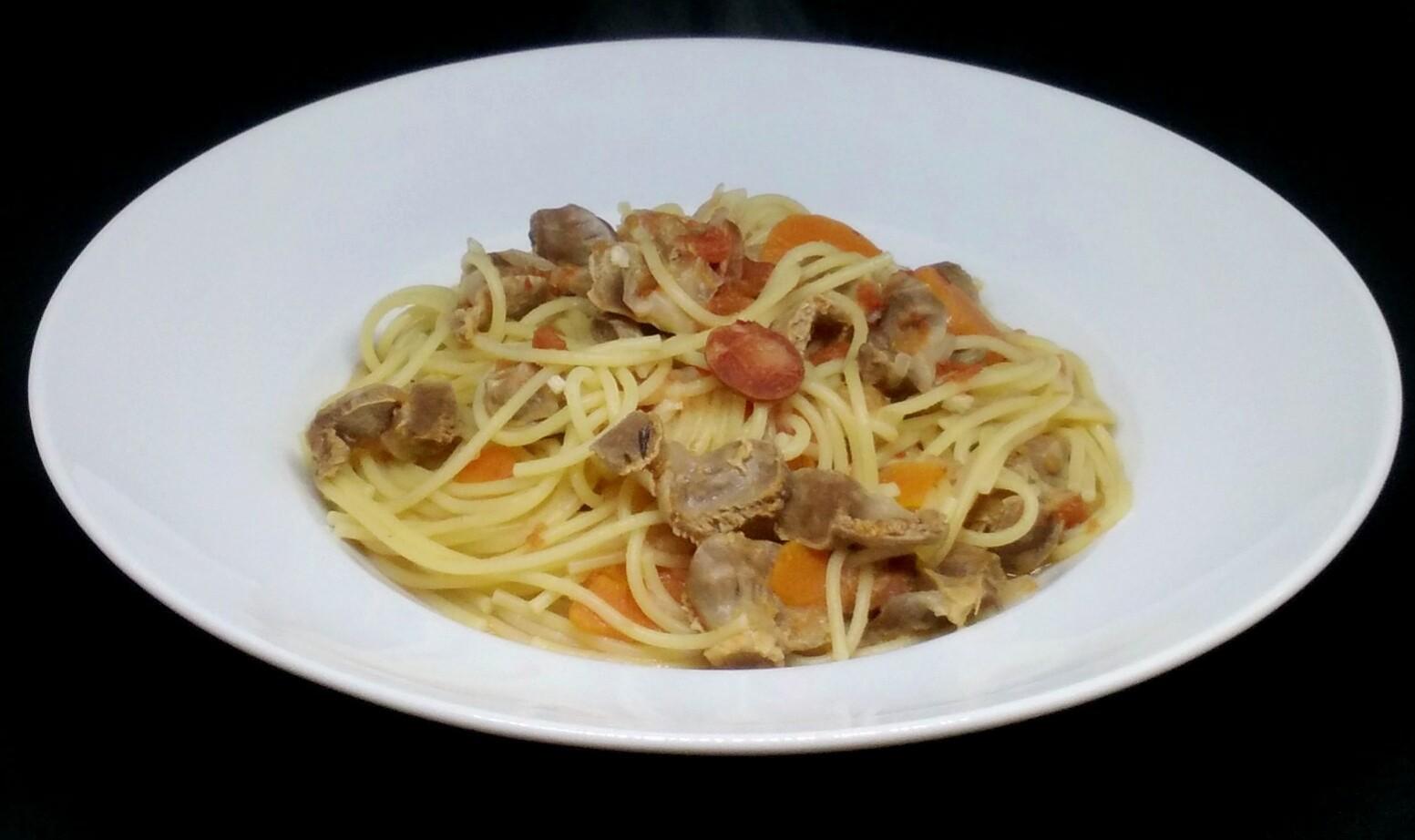 Moelas com Esparguete