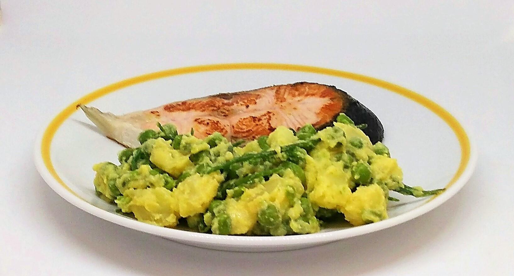 Salada de Batata e Ervilhas