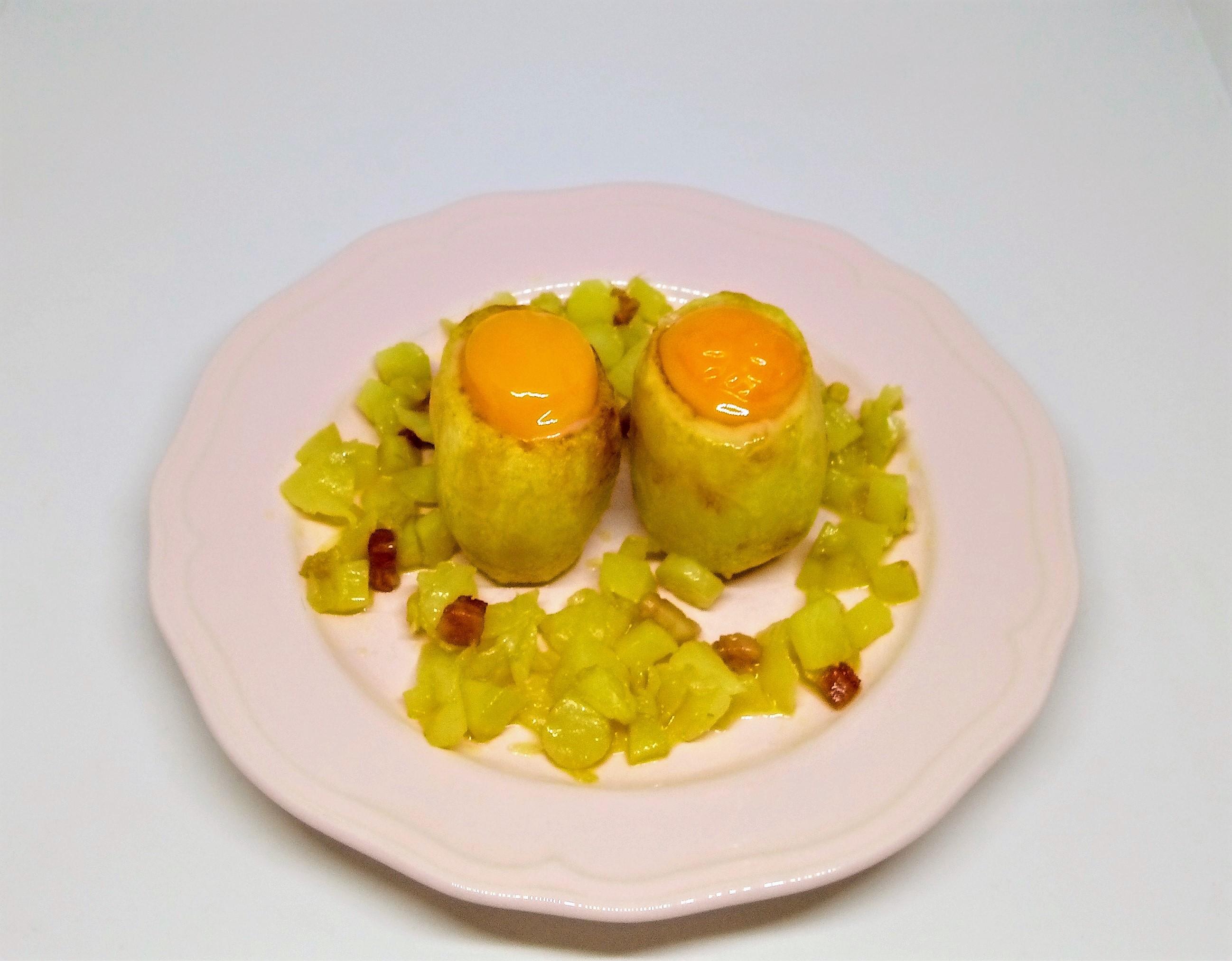 Batatas Recheadas com Gema e Bacon