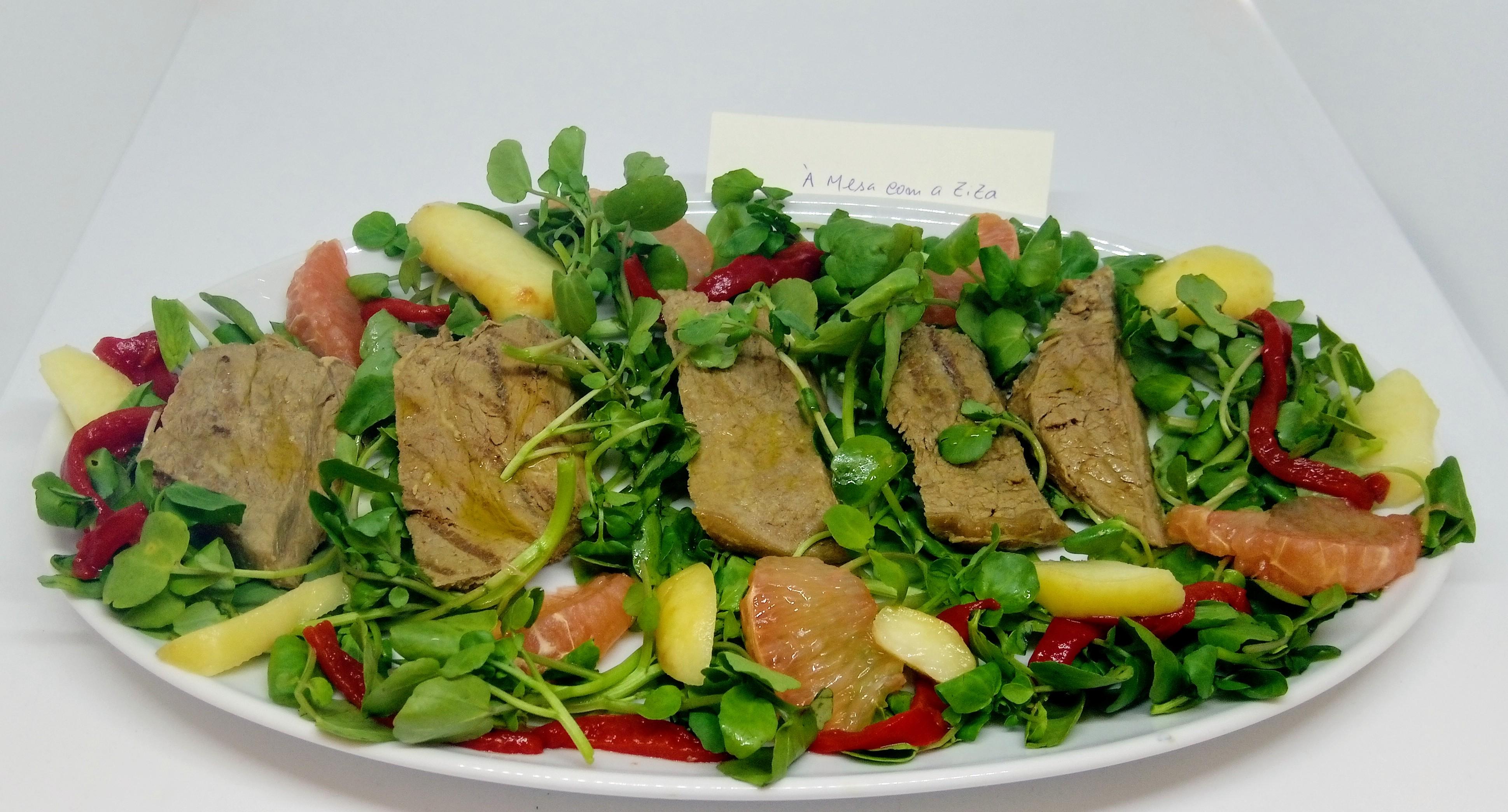 Salada de Agrião e Vitela